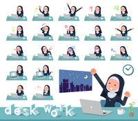 flat type Nun women_desk work