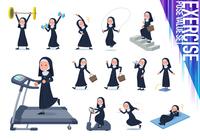 flat type Nun women_exercise