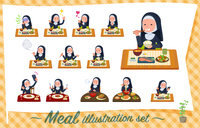 flat type Nun women_Meal