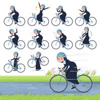 flat type Nun women_road bike