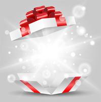 赤いリボンのプレゼント箱