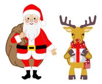 サンタクロースとトナカイ - クリスマスプレゼント