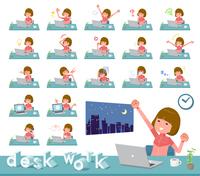 flat type Bob hair women Sportswear_desk work