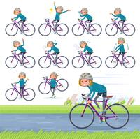 flat type Bob hair women Sportswear_road bike