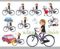 flat type Short hair women Sportswear_city cycle