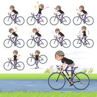 flat type Short hair women Sportswear_road bike