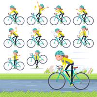 flat type Behind knot hair women Sportswear_road bike