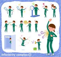 flat type school girl green jersey_complex