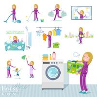flat type school fair skin girl purple jersey_housekeeping