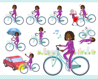 flat type school dark skin girl purple jersey_city cycle