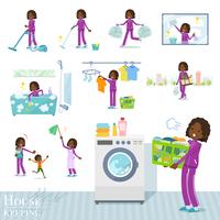 flat type school dark skin girl purple jersey_housekeeping