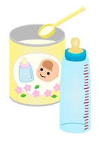 粉ミルク 哺乳瓶