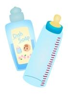 赤ちゃん用洗剤と哺乳瓶
