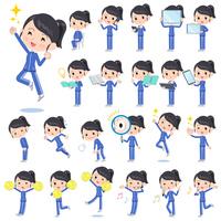 school girl Blue jersey_Action
