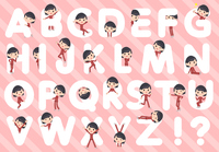 school girl Red jersey_A to Z
