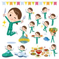 school girl Green jersey_food festival