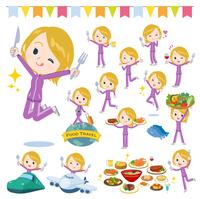 school fair skin girl purple jersey_food festival