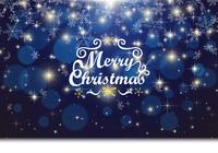 クリスマスの青いキラキラと雪の結晶の背景