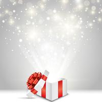 クリスマスのプレゼントと輝く光