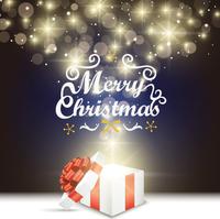 クリスマスのプレゼントとキラキラの光