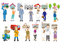 街で働く人々