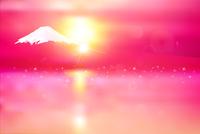 桜 富士山 年賀状 背景