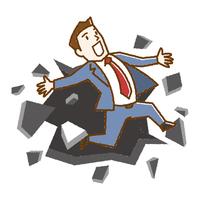 ビジネスマン 限界突破 手描き風