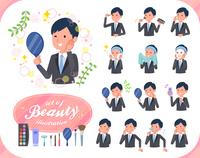 flat type Gray suit businessman_beauty