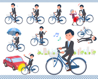 flat type Gray suit businessman_city cycle