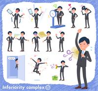 flat type Gray suit businessman_complex