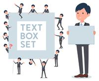 flat type Gray suit businessman_text box