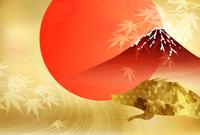 亥 富士山 年賀状 背景