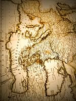 古地図 中東とヨーロッパ