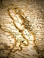 古地図 イタリア半島