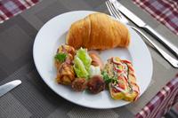 ブッフェスタイルの朝食