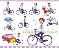 flat type wild Middle aged men_city cycle