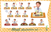 flat type wild Middle aged men_Meal