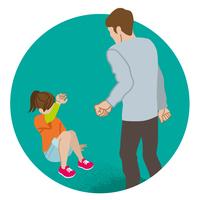 児童虐待 コンセプトアート 女子児童