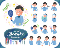 flat type Blue clothing glass dad_beauty