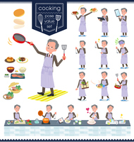 flat type Double suit old men_cooking