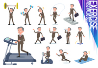 flat type Double suit old men_exercise
