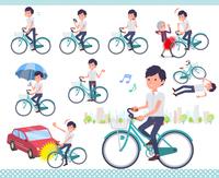 flat type White short sleeved men_city cycle