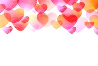 バレンタイン ハート 和紙 背景