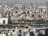 東京都 隅田川と桜橋