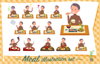 flat type high neck Middle men_Meal