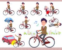 flat type school boy Brown Blazer_city cycle