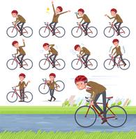 flat type school boy Brown Blazer_road bike