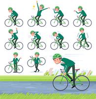 flat type school boy Green Blazer_road bike