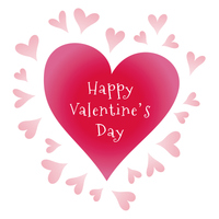 バレンタインデー、ハートのカードデザイン
