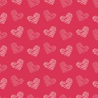 バレンタインハートの背景パターン